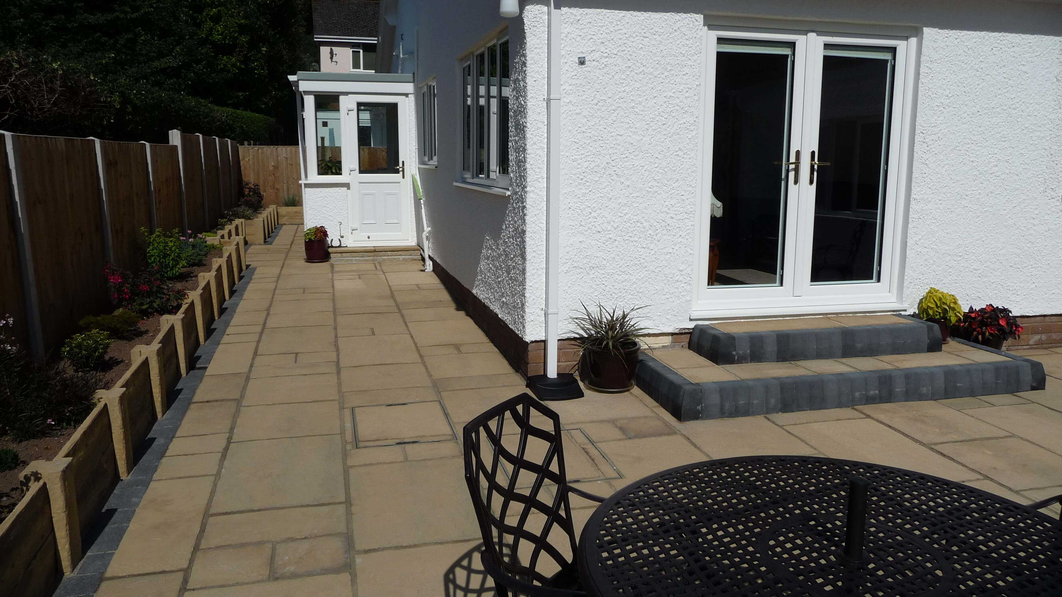 Rear patio Llandudno North Wales