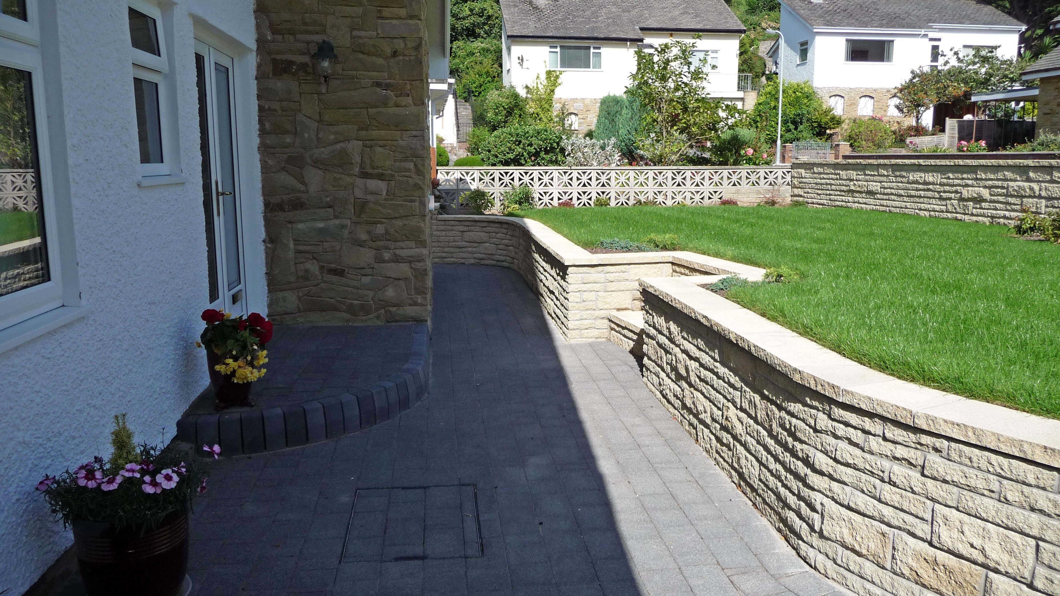 Landscape garden North Wales