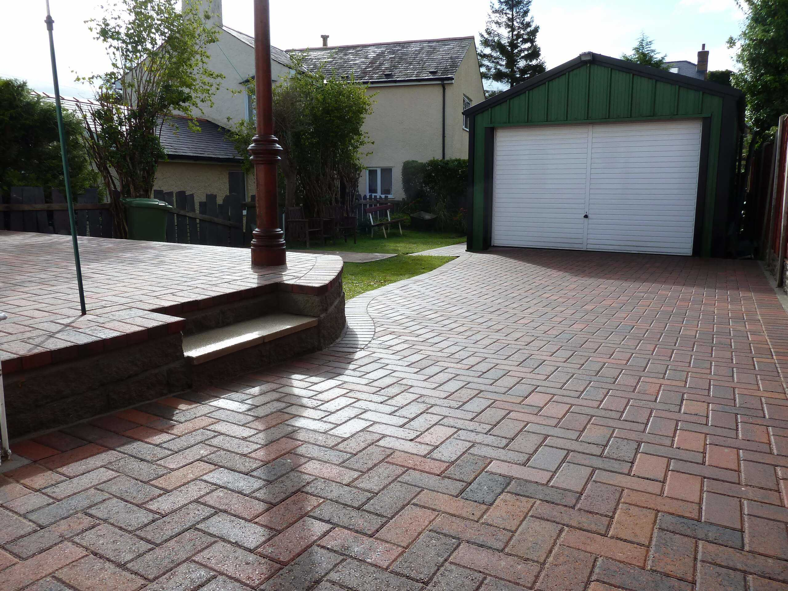 Block Paving patio north wales