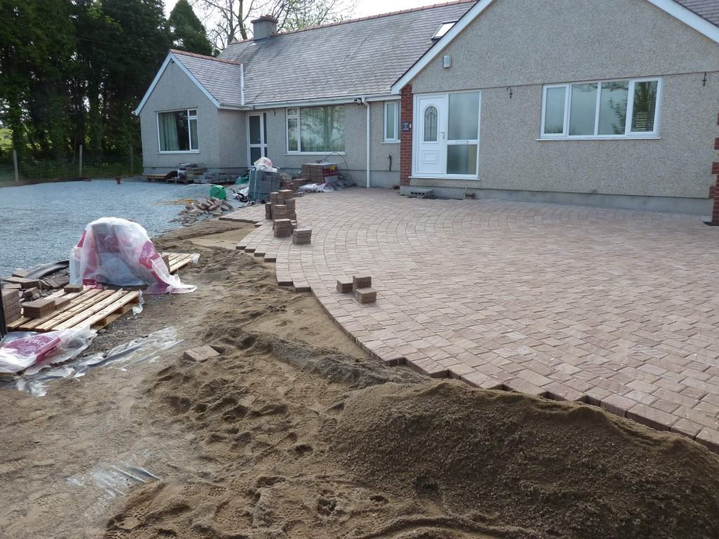 Curved Driveway North Wales