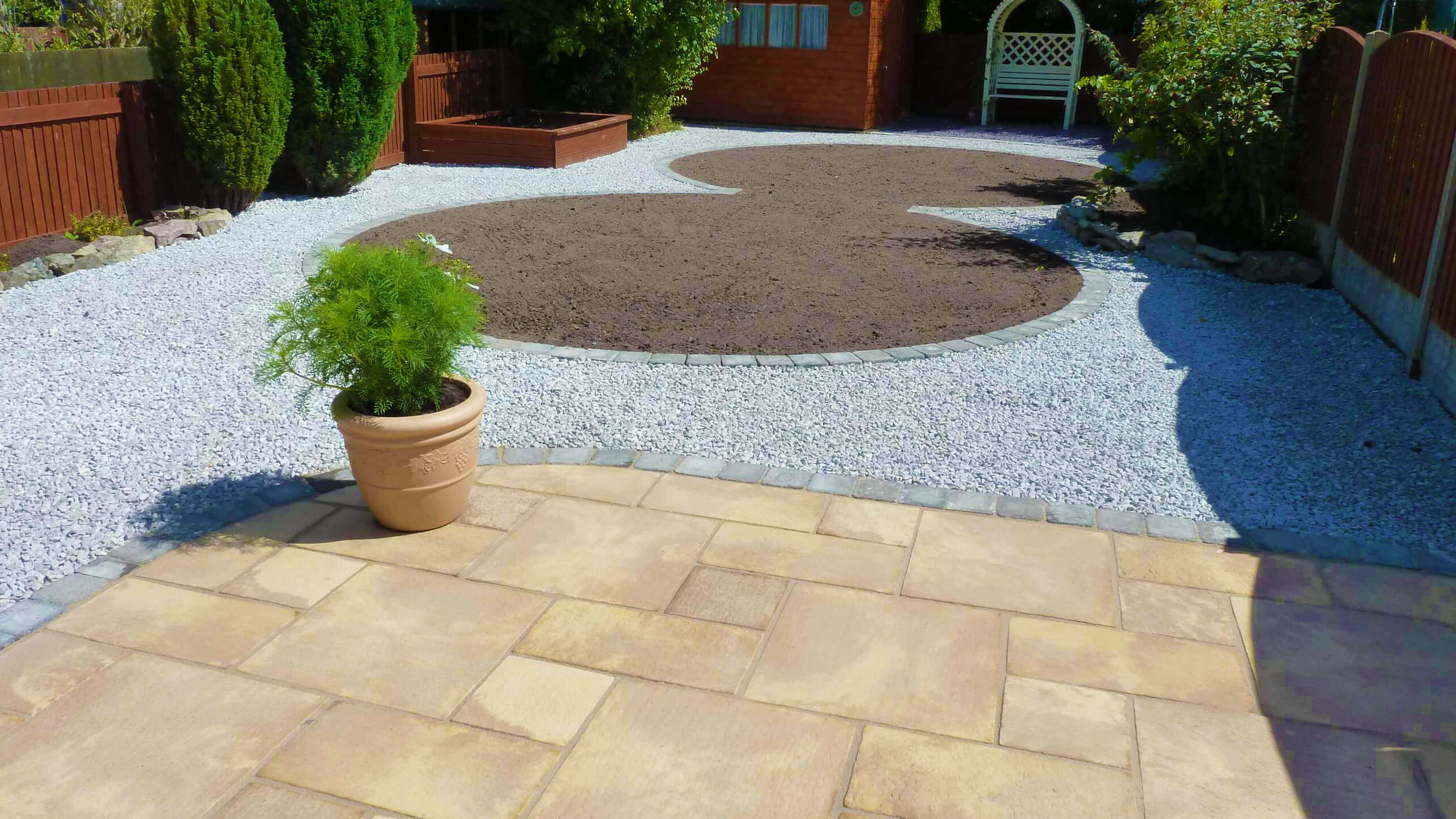 low maintenance garden north wales