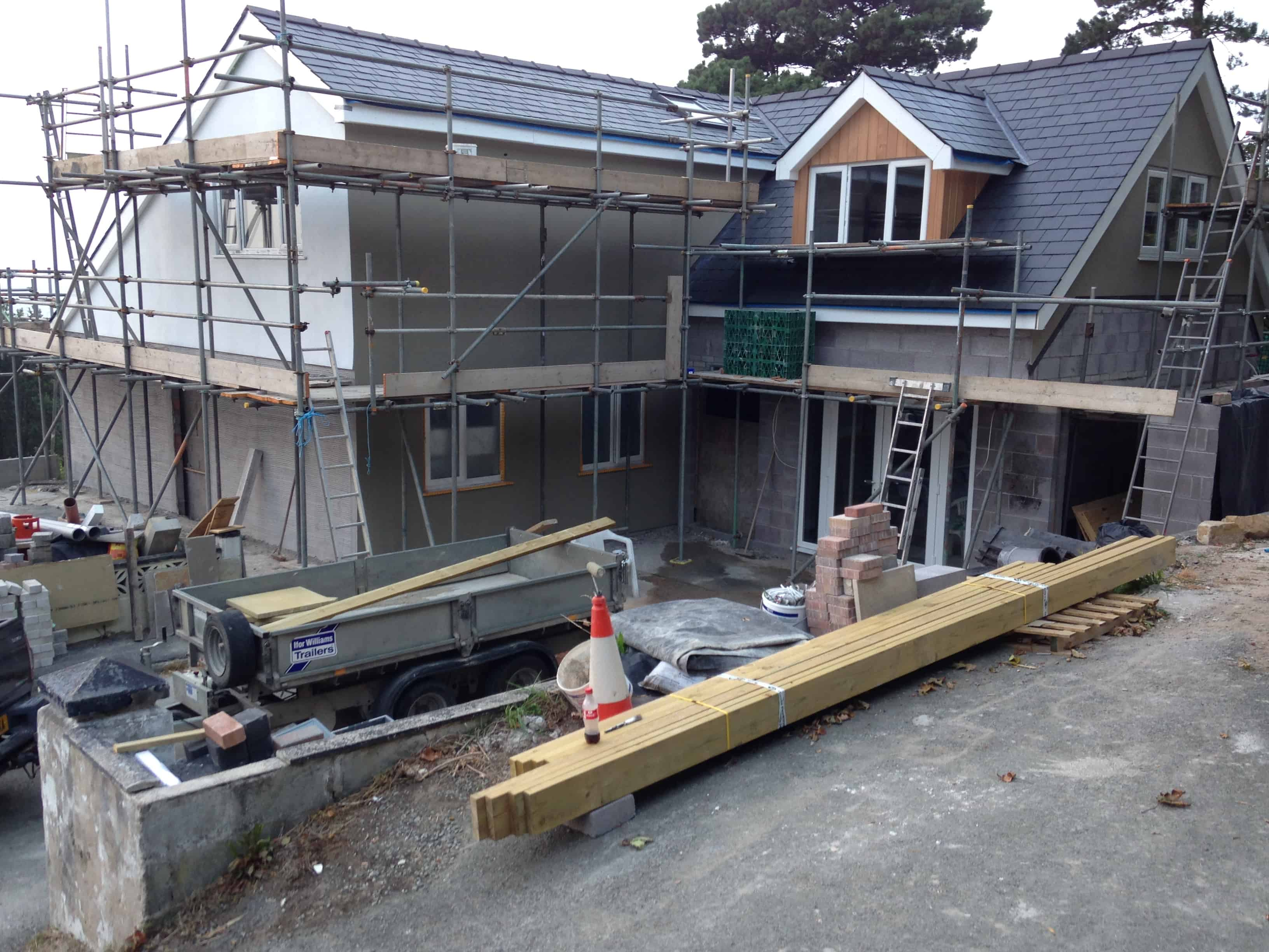 House building Project North Wales