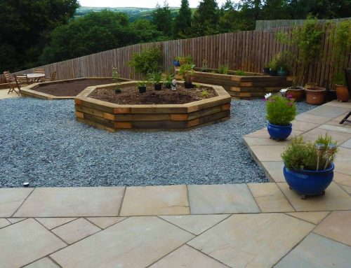 Garden Makeover and Paving – North Wales
