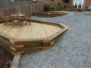 New decking area north wales
