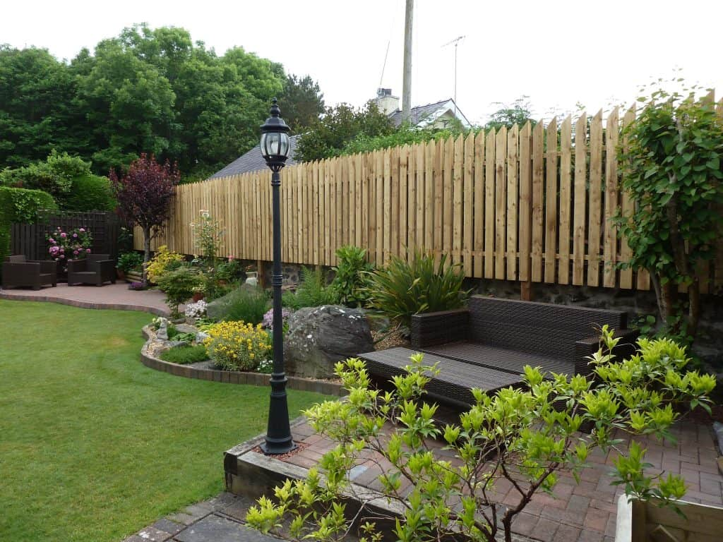 garden landscaping and Fence project North Wales - after