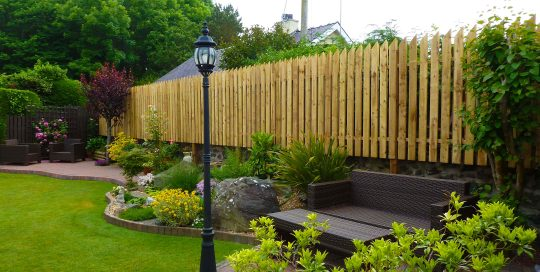 Fence and paving project north wales