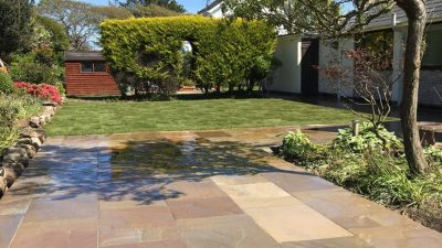 New patio in Sandstone. North Wales