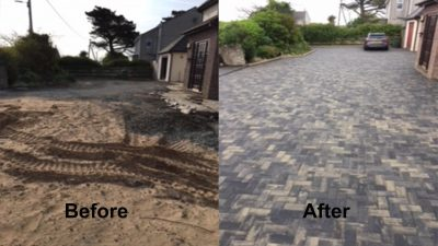 Before and after - new driveway with drainage 2