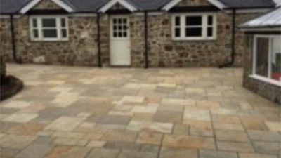 Limestone Paved Courtyard North Wales