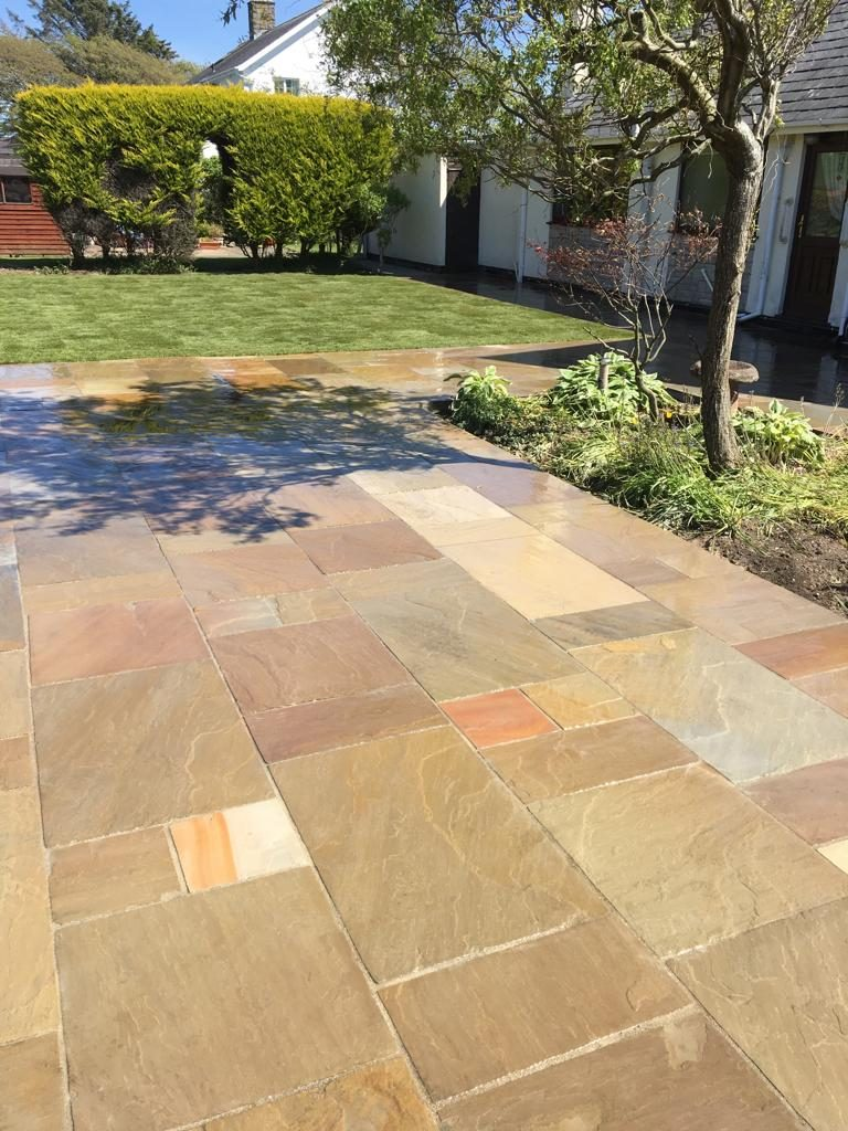 New patio laid in Cricceth North wales