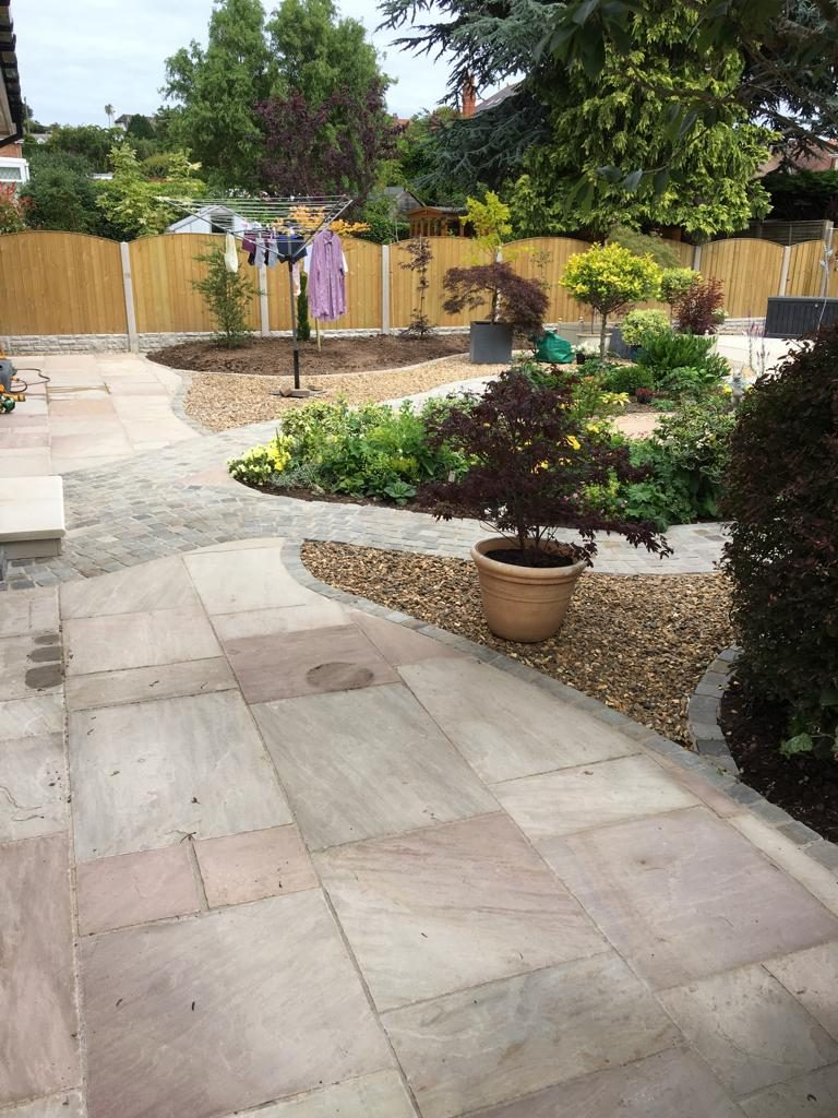 new patio laid north wales