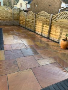 Rhos on Sea Lay new patio