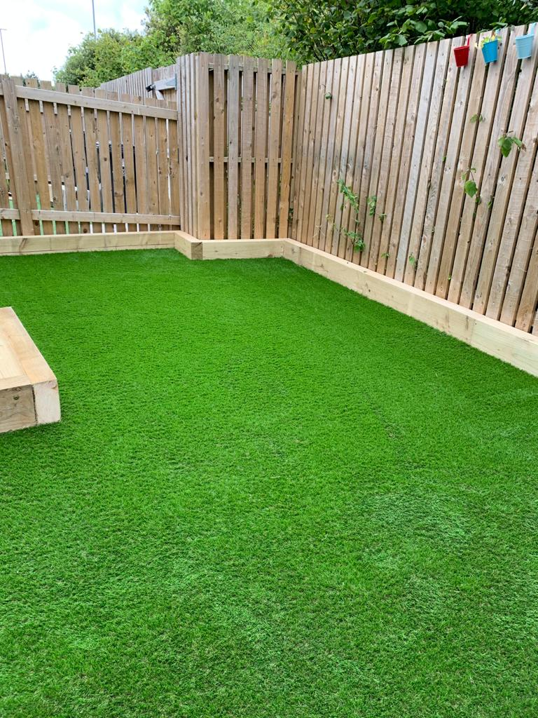 artificial grass garden landscaper north wales